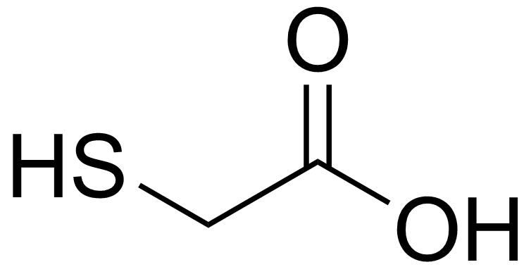 チオグリコール酸分子構造